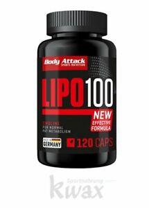 (37,35 Euro/100g) 120 Kapseln Lipo 100 Fatburner Body Attack