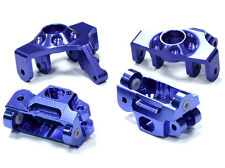 T5023BLUE Integy Steering Knuckle & Caster Block Set for HPI Savage XS Flux