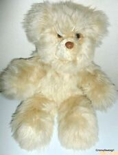 Alpaca Fur Teddy Bear Plush Inca Peru Cream Stuffed Animal Toy Perumanta Lovey