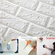 DIY PE Foam 3D Self Adhesive Panels Wall Stickers Home Decor Embossed Brick