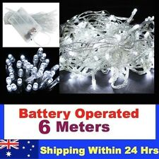 6M Battery Operated String Fairy Lights COOL  WHITE New xmas