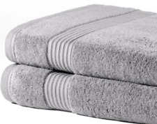 2 Pack Big Jumbo Bath Sheets | Super Soft | New Extra Absorbent Cotton | Silver