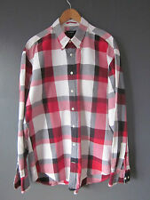 "Gant Shirt ""Sport Plaid"" (2XL-XXL - Regular) Rouge/Noir Carreaux en coton à manches longues ex"
