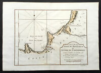 1750 Bellin Original Antique Map of the Benguela province in Angola, Africa