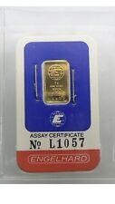 1980s Vintage Rare 1 GRAM GOLD ENGELHARD BAR .9999 FINE SEALED ASSAY.  VERY RARE