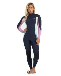 BILLABONG 302 SYNERGY FULL Back Zip size10 Steamer Womens Wetsuit Navi  RRP $299