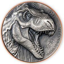 2021 Vanatu Double Silver Giant Tyrannosaurus Rex Copper & Silver Coin 1999 Made
