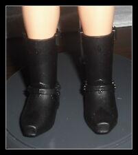 SHOES  MATTEL BARBIE KEN DOLL1 MODERN CIRCLE BLACK SNAP ON BOOTS CLOTHING ITEM