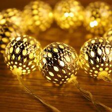 marokkanische LED Lichterkette – 10 Meter 30 LEDs Kugel Kette   Mit Netzstecker