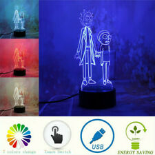 Peace Worlds Rick Morty 3D LED 7 Color Change Night Light Home Decor Table Lamp