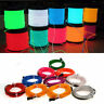 2M Glow LED Light El Wire String Strip Rope Car Dance Party 12V Car Adapter