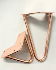 Singular Rose gold metal hairpin furniture legs