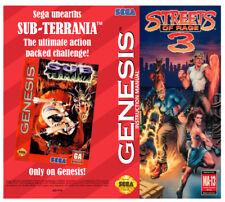 Color Custom Manual STREET OF RAGE III Mega Drive USA Version - AAA+++