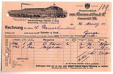 Litho Rechnung Margarine Fabrik van Rossum & Co.m.b.H. Emmerich a.Rh. 1914 (D2