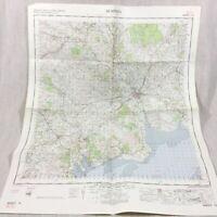 1965 Vintage Militare Mappa Di Dumfries Scozia Dalbeattie Castle Douglas