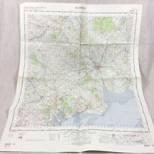 1965 Vintage Military Map of Dumfries Scotland Dalbeattie Castle Douglas