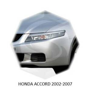 For Honda Accord Acura TSX 2002-2007 Eyebrows Eyelids Hedlight Cover Primed 2pcs