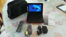 """Sony DVP-FX750 Portable DVD Player (9"""" screen),RED,RARE,EXC"""