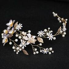 Wedding Leaf Headband Pearl Handmade Hairband Hair Accessories Flowers Bridal