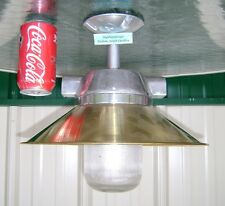 Reclaimed Polished Brass & Aluminum Nautical Ceiling Light - New Usa Wiring
