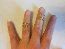 Ring from Avon (new) BOLD METALS 5 PIECE RING SET GOLDTONE (SZ 10)