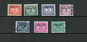 ITALY EUROPE AMG F.T.T. COLLECTION USED POSTAGE DUE STAMPS  LOT (ITALIA 31)