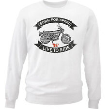 YAMAHA YDS7 - NEW COTTON WHITE SWEATSHIRT ALL SIZES IN STOCK