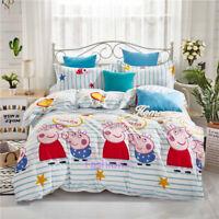 Peppa Pig Single/Double/Queen/King Bed Quilt Doona Duvet Cover Set Pillow Case