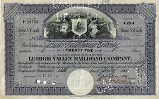 Lehigh Valley Railroad Company, Pennsylvania, 1933 (25 Shares) alte Version