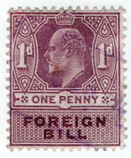 (I.B) Edward VII Revenue : Foreign Bill 1d