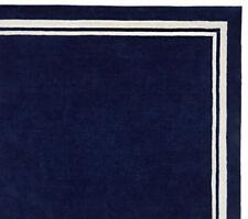 Ballard Harper Navy 8x10 Modern Boy Style Handmade Tufted Woolen Rugs & Carpet