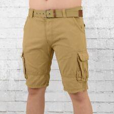 Indicode Männer Cargo Short Monroe beige Herren Shorts kurze Hose Seitentaschen