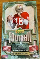 1992 Upper Deck Football Factory Sealed Box ~ Cards 36 Packs JOE MONTANA