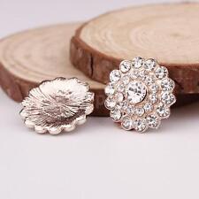10pcs Rhinestone Crystal Embellishments Flatback Buttons for Wedding Craft