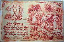 Beruf Gärtner Gärtnerin Blechschild Schild Blech Metall Tin Sign 20 x 30 cm