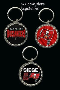 Tampa Bay Buccaneers Bucs  keychainsparty favors lot of 10 gifts super bowl