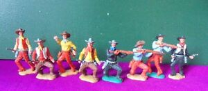 Collection of Timpo Cowboys - 8 figures on foot