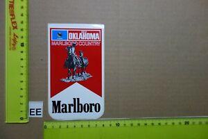 Alter Aufkleber Zigaretten Motorsport MARLBORO USA Country-State 1982 OKLAHOMA