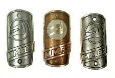3 Soviet Vintage MMVZ  Bicycle Factory Head Badge MMB3  / Original Nr 4112