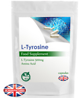 L-Tyrosine 500mg - Mental & Memory Performance, Focus, Fight Stress, Mood, UK