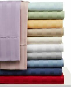 New Valance Collection 1 PC 1000TC Egyptian Cotton AU Double Size Striped Colors