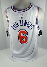 Men New York Knicks Kristaps Porzingis #6 White Statement Jersey Swingman L Nike