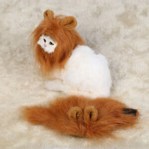 02018 Halloween Christmas Lion Mane Wig with Ears For Pet Dog Cat Dress up Soft