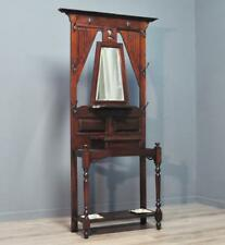 Attractive Antique Victorian Mahogany Mirror Back Coat Stick Hallstand Stand