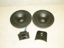 "Dual 8"" Woofer 2 Way Speaker Kit Pair Crisp Tight Bas"