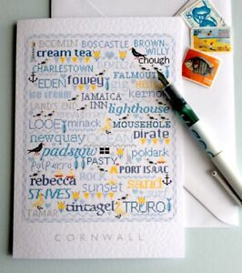 CORNWALL Large A5 Greetings-Letter Card Cross Stitch Sampler Design