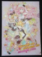 Vocaloid Official Clear File Folder Megurine Luka Kagamine Lin Ren Stationery