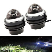 2pc Xenon White 5W CREE High Power Bull Eye LED DRL Projector Daytime Fog Light
