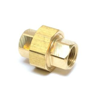 3/8 Npt Female 3 Piece Union Coupling Brass Pipe Fitting Air Water Oil Gas Fuel