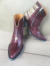 NEW/NIB Old Gringo Hippiton Star Boots 10 retail $545 Sundance Catalog Red